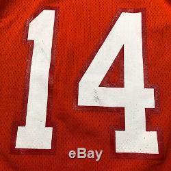 Vintage Tampa Bay Buccaneers #14 Vinny Testaverde Orange NFL Football Jersey New