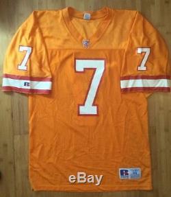 Vintage Throwback Craig Erickson Tampa Bay Buccaneers Jersey Size 44 Orange