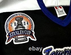 Vtg-men-nwt-sm Martin St Louis Tampa Bay Lightning 2004 Cup Patch NHL CCM Jersey