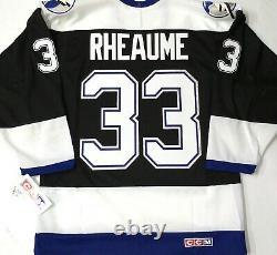 Vtg-nos-men-nwt-sm Manon Rheaume Tampa Bay Lightning CCM NHL Hockey Jersey