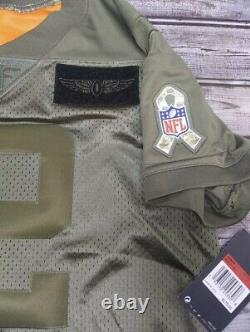 Women's Aaron Rodgers Green Bay Packers Salute To Service Military Jersey Size L